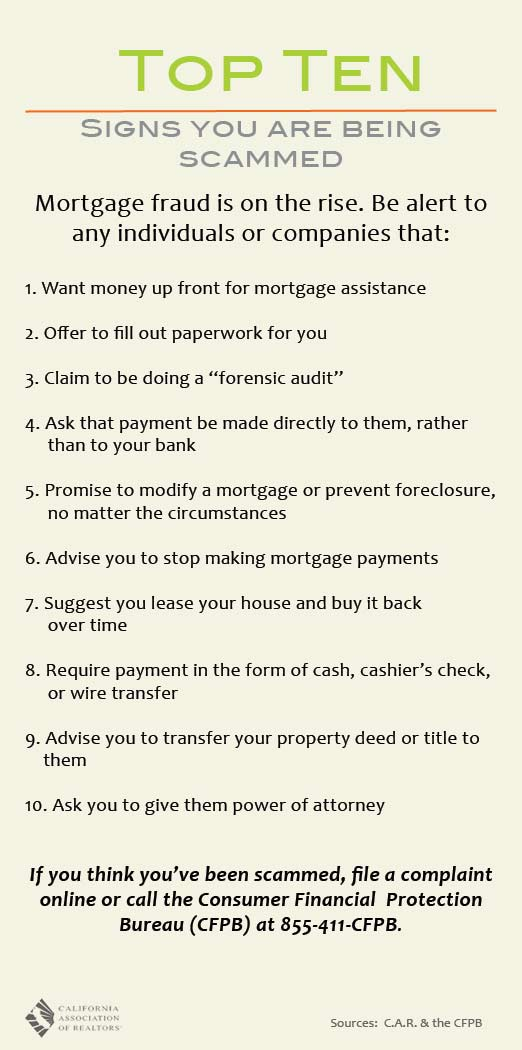 Top Ten Signs You Are Being Scammed